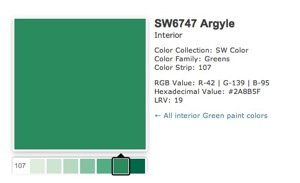 Sherwin Williams Argyle Green 2012 Color Bob Vila