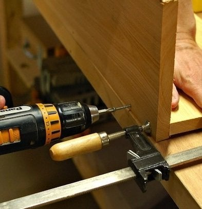 How to Make a Window Box - Drilling