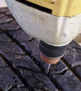 How to Make a Tire Swing - Drilling Holes