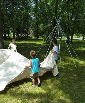 How to Make a Teepee - Assembly