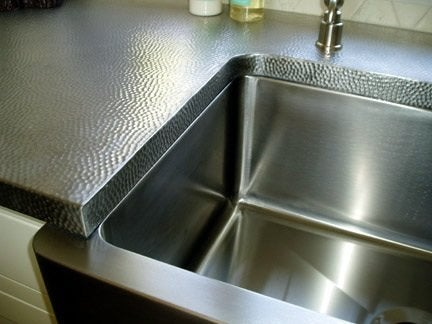 Cad Kitchen Plans Stainless Steel Machine Hammered Countertop