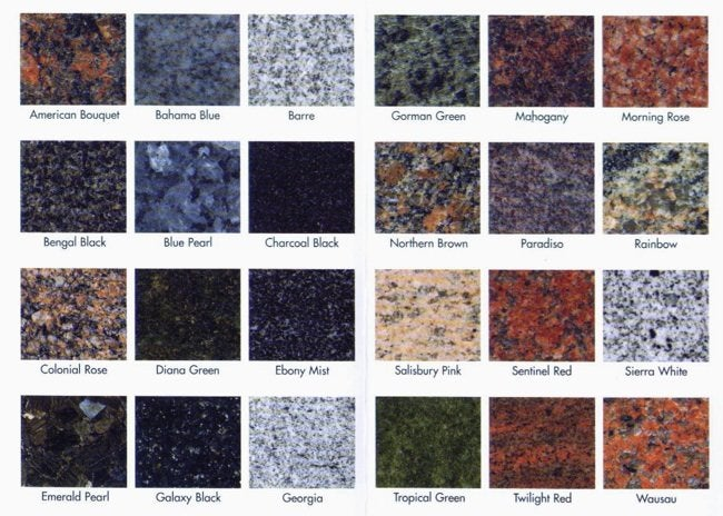 Modular Granite Countertops Granite Colors