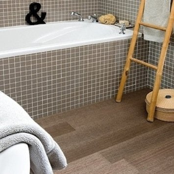 vinyl planks bathroom