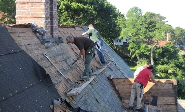 Repair or Replace Roof - Removing Shingles