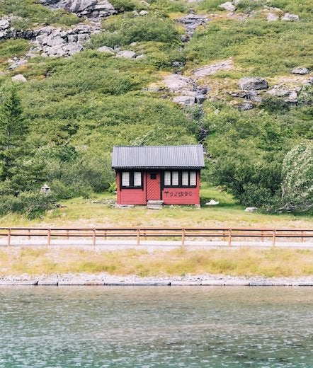 Norway red cabin