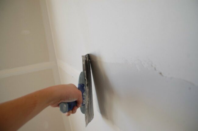 How to Finish Drywall Joints - Swipe 1