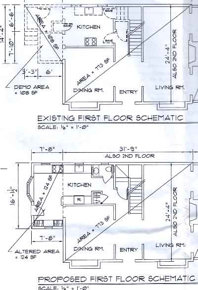 Kitchen plans as filed with the city
