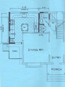 One of the stages of our kitchen floor plans