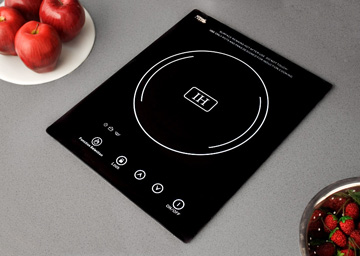 Induction cooktop that uses magnets to create heat.