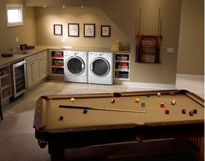 Laundry Room Ideas - Pool Table