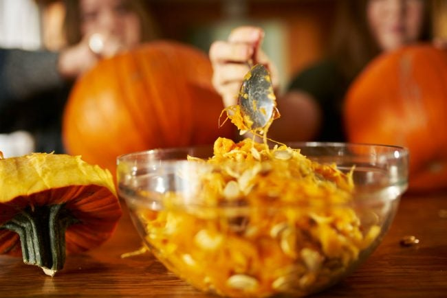 How to Preserve a Carved Pumpkin? Scoop Everything Out