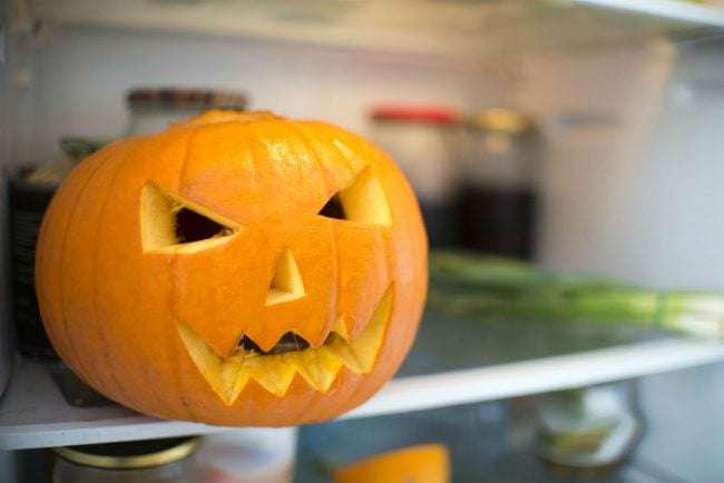 How to Preserve a Carved Pumpkin? Place in the Fridge Overnight