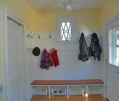 Finished mud room