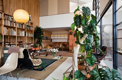 Eames House Living Room LACMA Exhibit