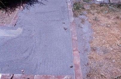 How to Make a Slate Walkway - Dust