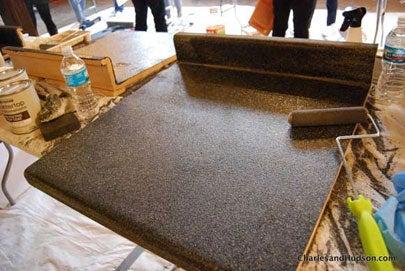 Resurfacing Laminate Countertops With Rust Oleum Bob Vila