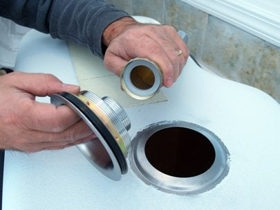 Install Kitchen Sink - Drain