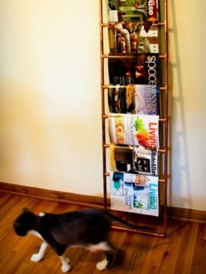 DIY Pipe Fitting Projects - Magazine Rack