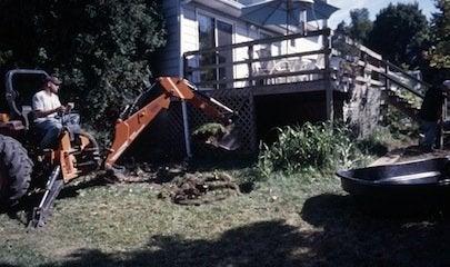 Building a Pond - Excavation