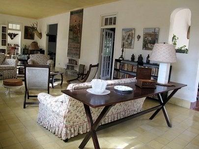 Hemingway's Finca Vigia Living Room