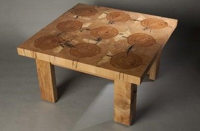 Sliced Beam Table by Wisnowski Design