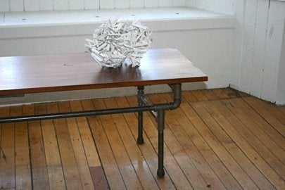 Coffee Table with Pipe Fitting Legs