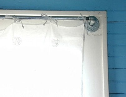 DIY Pipe Fitting Projects - Curtain Rod