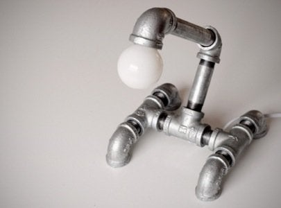 DIY Pipe Fitting Projects - Light Fixture