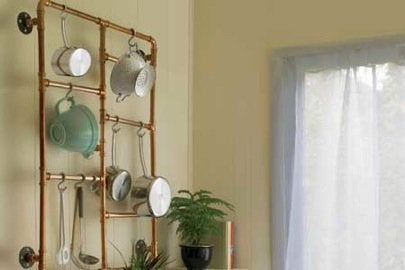 DIY Pipe Fitting Projects - Kitchen Organization