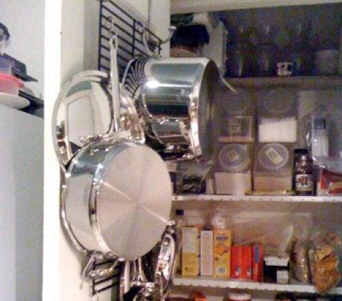 Creative Kitchen Storage Ideas - Over the Door Solution