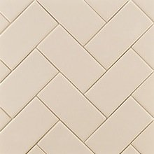 Ann Sacks Herringbone-patterned Ceramic Subway Tiles