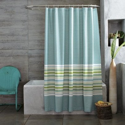 West Elm Gradiated Stripe Shower Curtain
