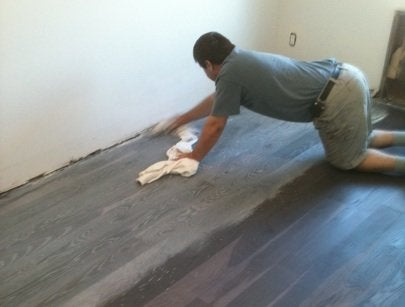 Wood Floors Go Gray - Action Shot