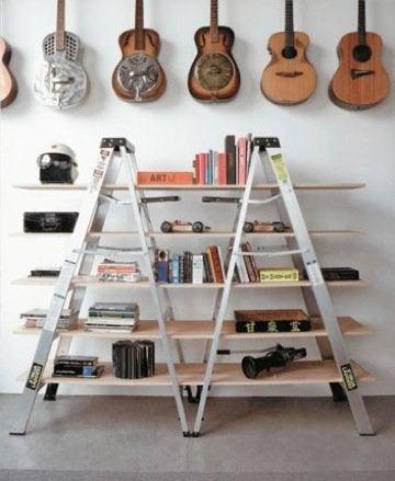 Vintage Ladder Shelves