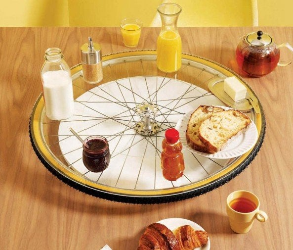 DIY Old Bicycle - Lazy Susan