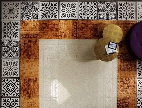 FAP patterned floor tiles.