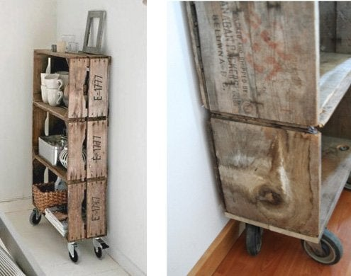 DIY with Apple Crates - Storage Tower