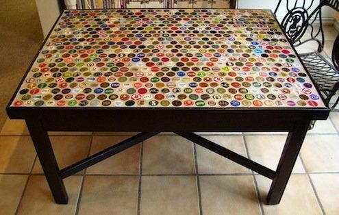 Bottle Caps DIY - Table