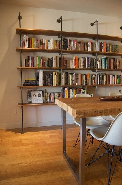 DIY Bookshelf - Pipe Fitting