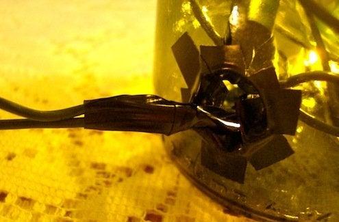 Wine Bottle Lanterns - Electrical Tape