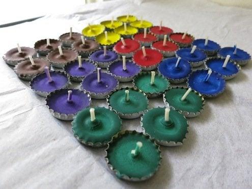 Bottle Caps DIY - Candle