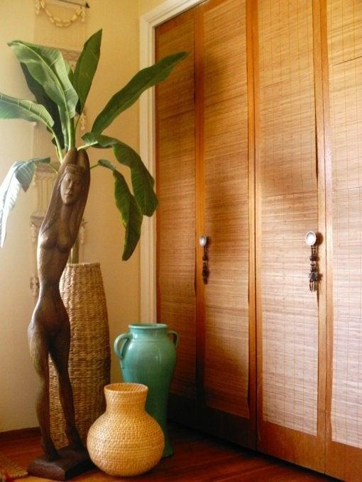 Closet Door DIY - Bamboo Mats
