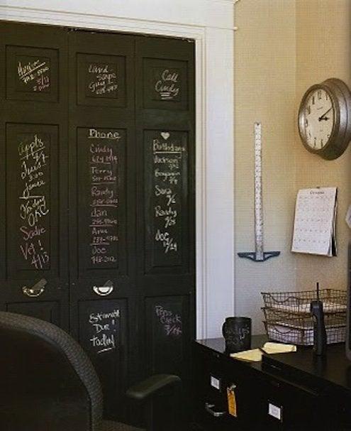 Closet Door DIY - Chalkboard Paint