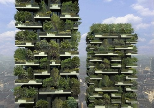 Bosco Vertical Forest apartment building in Milan by Stefano Boeri