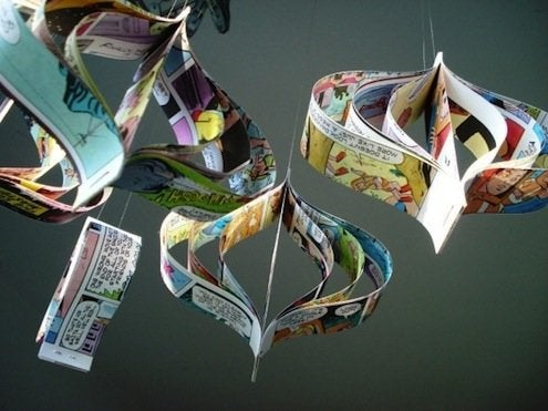 DIY Comic Book Ornaments