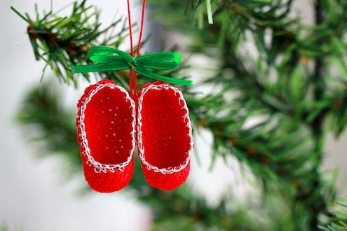 DIY Crochet Slippers Ornament