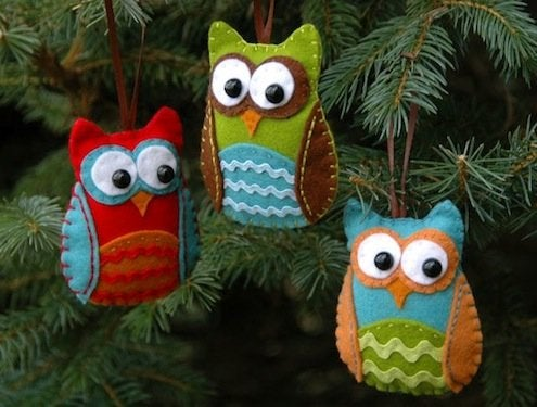 DIY Felt Owl Ornaments