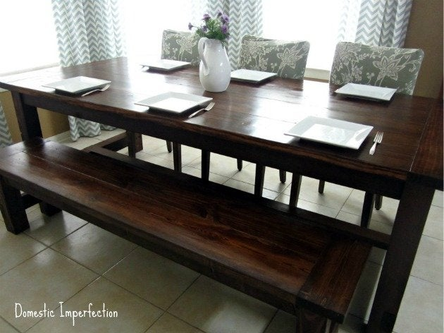 DIY Farmhouse Table Plans - Domestic Imperfection