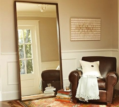 Oversized Mirror - Burke Standing Floor Mirror from Pottery Barn