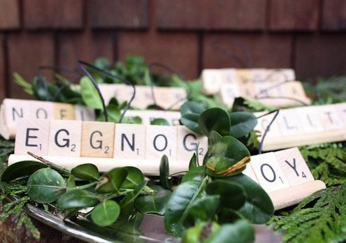 DIY Scrabble Ornaments